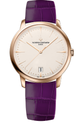 Vacheron Constantin Patrimony small model pink gold purple strap